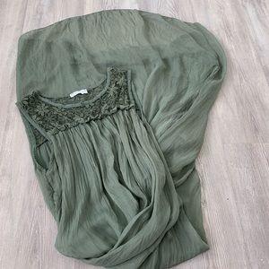 Dolce Ragazza 100% Silk Maxi Dress